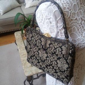 VINTAGE Damask BOX Handbag Beautiful!